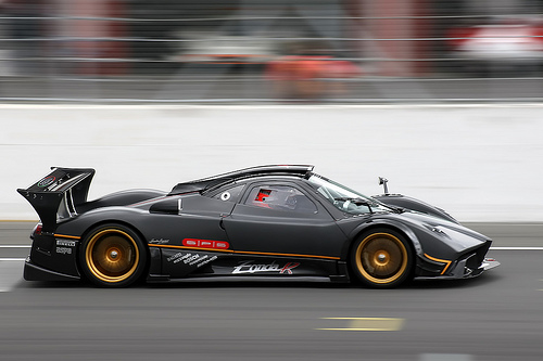 A Pagani Zonda R has this
